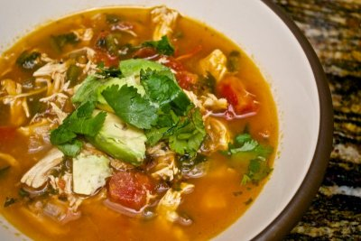 Soup, Mexican Style Chicken Tortilla