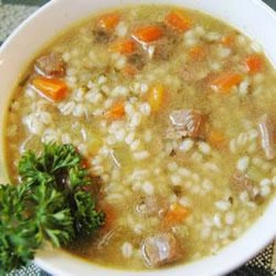 Soup, Savory Beef Barley Vegetable