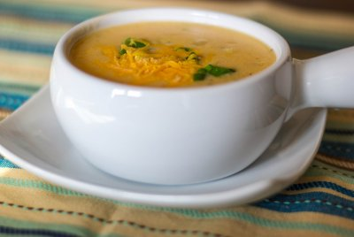 Chunky Baked Potato with Cheddar & Bacon Bits Soup