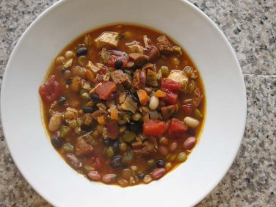 Lentil and Audouille Sausage Soup