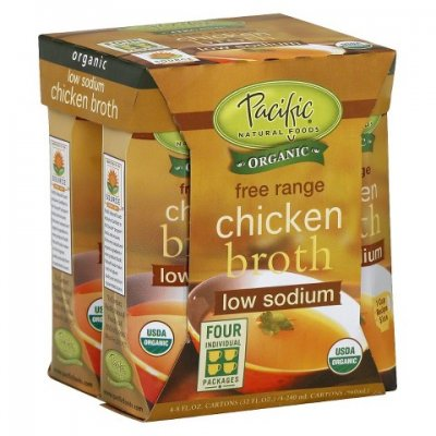 Free Range Chicken Broth, Low Sodium