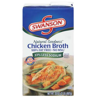Broth,Chicken Reduced Sodium Ready To Serve