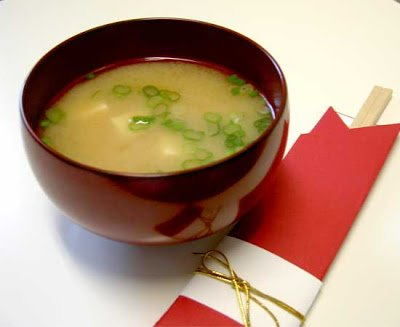 Whtie Miso With Tofu & Scallions, Traditional Japanese Soup