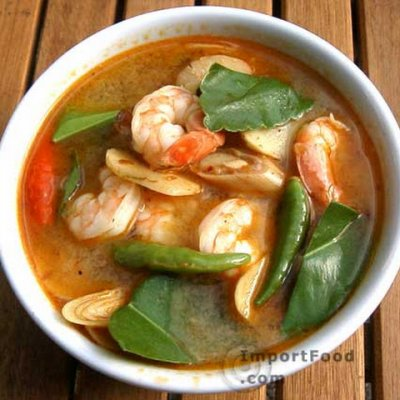 Noodle Soup, Thai Tom Yum with Ginger, Chili and Lime