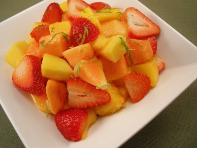 Mango, Papaya & Strawberries