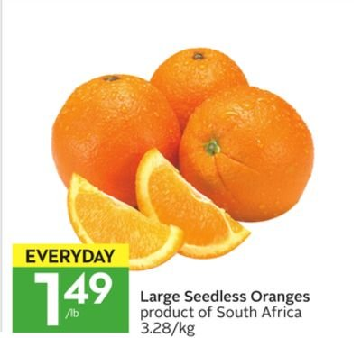 Organic, Orange, Delta, Seedless, Medium