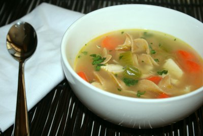 Soup, Chicken Noodle, With Diced White Chicken Meat