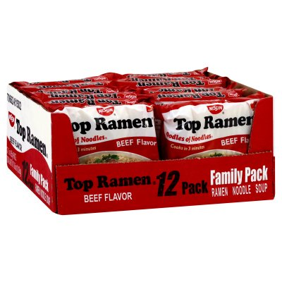 Soup, Ramen Noodle, Chicken Flavor, Family Pack