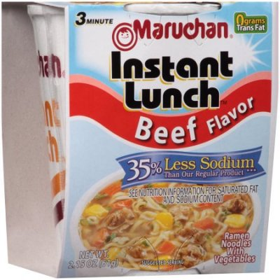 Ramen Noodles with Vegetables, Hot & Spicy Beef