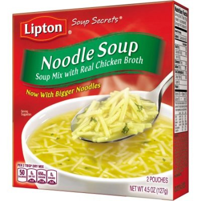 Soup Mix, Noodle Soup with Real Chicken Broth