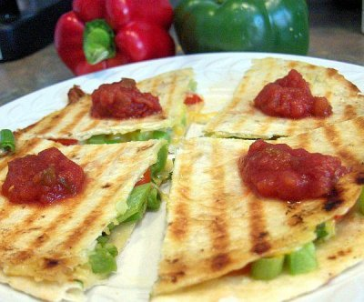 Grilled Peppers- quesdailla