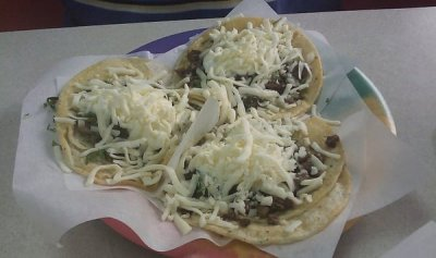 Soft Taco with Steak and Sour Cream