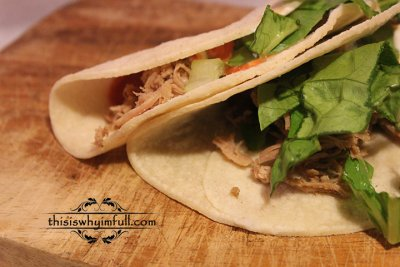 Soft Taco with Carnitas and Cheese