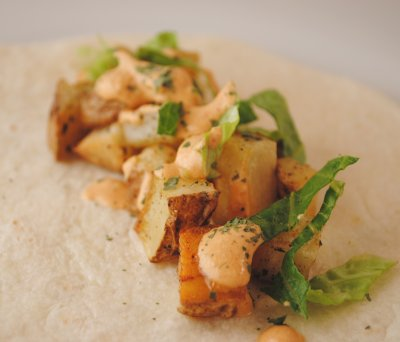 Crispy Potato Soft Taco