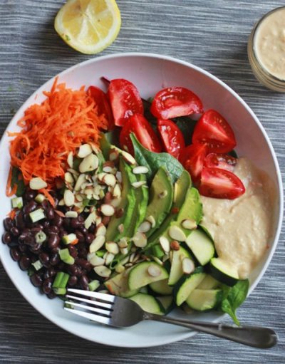 Power Chicken Hummus Bowl
