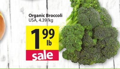 Organic, Broccoli, Retailer Assigned