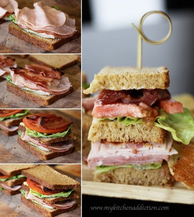 Turkey Club Sandwich, w/out mayo