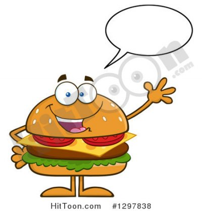 Fast foods, cheeseburger; single, regular patty, with condiments and vegetables
