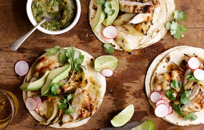 Grilled Gourmet Taco with Chicken