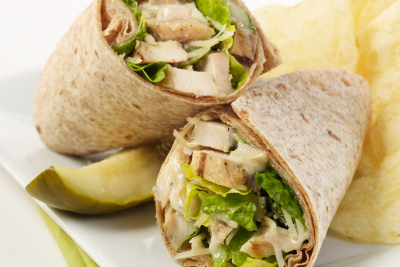 Grilled Chicken Caesar Wrap, Choose 2