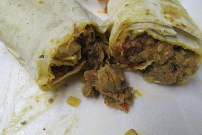 Soft Ground Beef Burrito