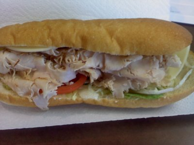 Turkey Sub, No Cheese or Sauce, Regular