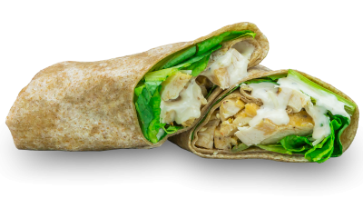 Chicken Caesar Garden Fresh Salad Wrap-Grilled