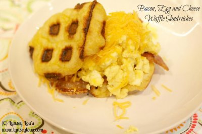 Waffle Breakfast Sandwich w/ Egg, Cheese