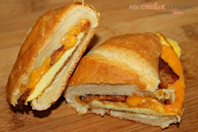 Egg and Cheddar Cheese Sandwich, Square