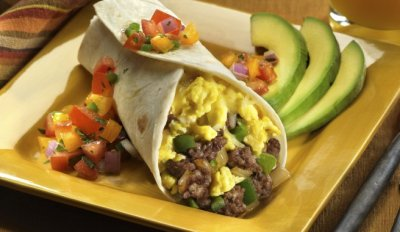 Egg and Chicken Breakfast Burrito
