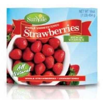Strawberries, Whole, Unsweetened