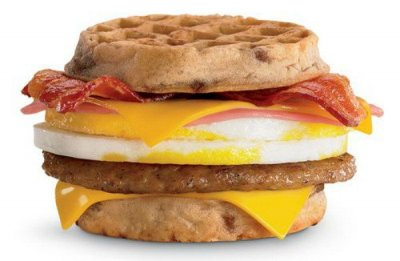 Breakast Muffin Sandwich, Bacon Egg and Cheese