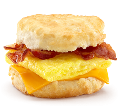 Breakfast Sandwich-Biscuit, Bacon,Egg White, Cheese