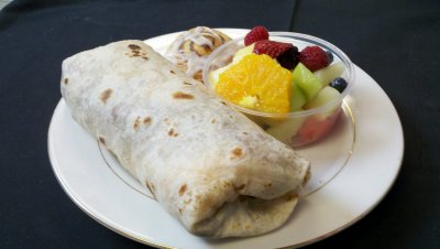 Grilled Breakfast Burrito - Bacon