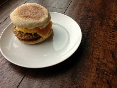 Sausage, Egg & Cheese on English Muffin