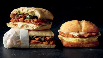Spicy Chorizo, Monterey Jack & Egg Breakfast Sandwich