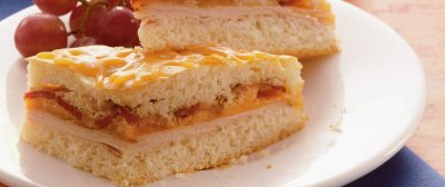 Bacon, Egg and Cheddar Cheese Sandwich, Square