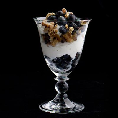 Greek Vanilla Yogurt & Wild Blueberry Parfait