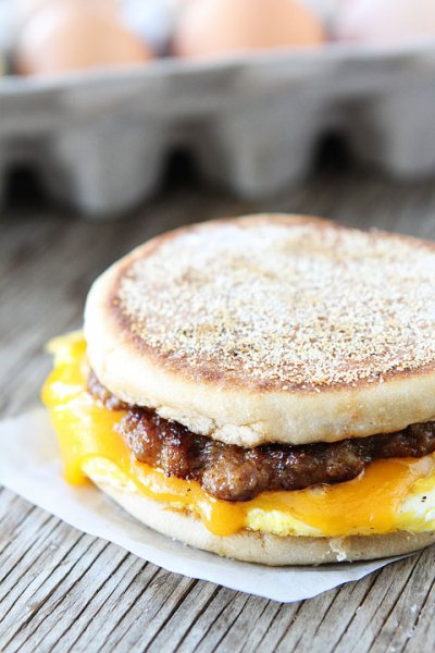Sandwich with Egg, Sausage & Cheese