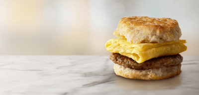 Sausage Biscuit (Regular Size Biscuit) (All Day Breakfast)