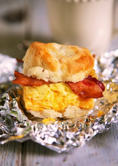 Breakfast Sandwich-Biscuit, Bacon, Egg, Cheese