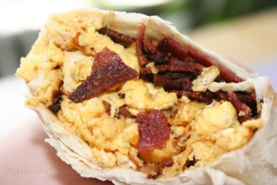 Chicken Breakfast Burrito