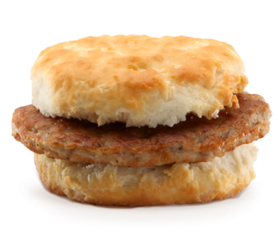 Sausage Biscuit with Egg Whites (Regular Size Biscuit)