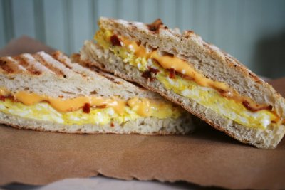 2 Egg, Bacon and Cheddar on Ciabatta