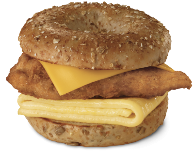 Chicken, Egg, and Cheese Bagel