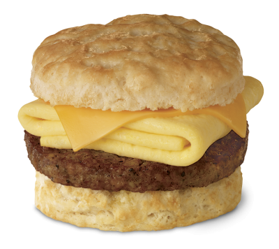 Biscuit with Egg & Sausage