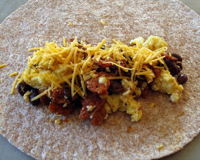 Breakfast Egg Burrito-Bacon