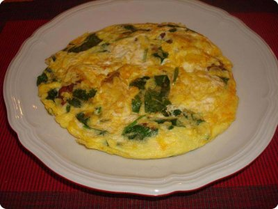 Chicken and Cheese Omelet
