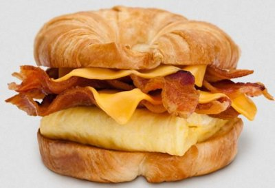 Double Croissan'wich w/ Ham, Bacon, Egg and Cheese