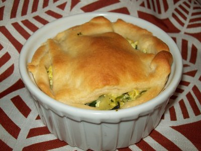 Spinach & Artichoke Baked Egg Souffle